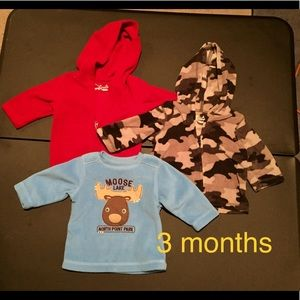 Other - 3 fleece tops, size 3 months